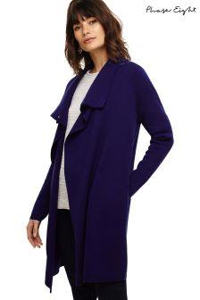 Phase Eight Blue Paloma Knit Coat