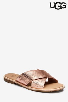 UGG® Joni Rose Gold Metallic Slider