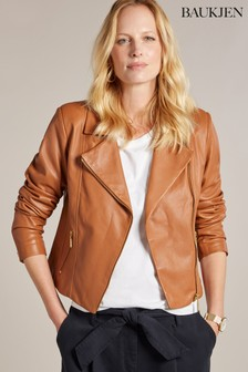 Baukjen Tan Everyday Leather Biker Jacket