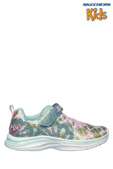 Skechers® Kids Blue Glitter Double Dream Trainer