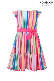 Robe Monsoon Sakira rayée multicolore