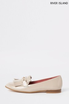 River Island Nude Snaffle Loafer