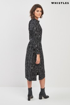 Whistles Stallion Print Shirt Dress