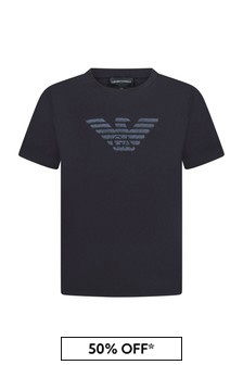 Emporio Armani Boys Navy T-Shirt