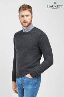 Hackett Grey Crew Neck Jumper