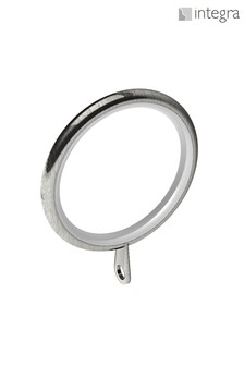 6 Pack Integra Satin Steel 28mm Curtain Rings