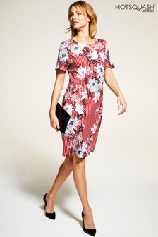 HotSquash Striped Rivera Short-Sleeved Print Shift Dress