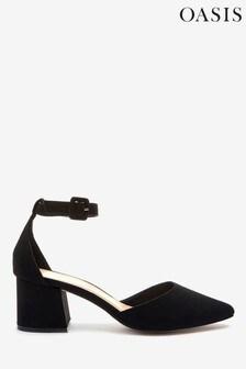 Oasis Schuhe mit mittelhohem Blockabsatz, Schwarz
