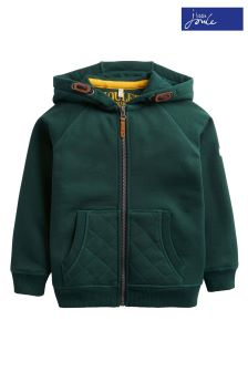 Joules Green Hemsby Hooded Zip Through Sweat