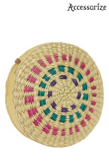 Accessorize Natural Multicoloured Large Circle Bag