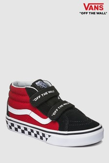 Vans Youth Red And Black SK8-Hi Trainer