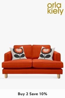 Orla Kiely Willow Small Sofa with Oak Feet