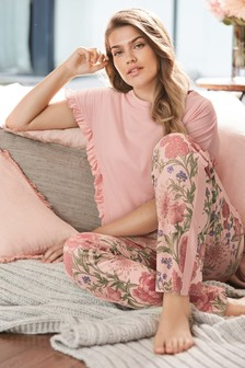 Ruffle Sleeve Pyjamas