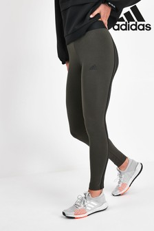 adidas Khaki 3 Stripe Leggings