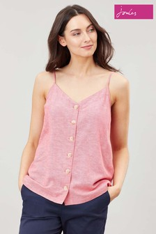 Joules Pink Carper Button Through Cami