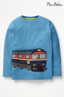 Boden Blue Vehicle Appliqué T-Shirt