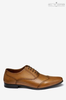 Punched Wing Cap Oxford Shoe