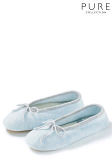 Pure Collection Blue Toccato Slipper