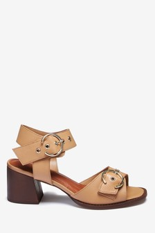 Signature Buckle Detail Sandals