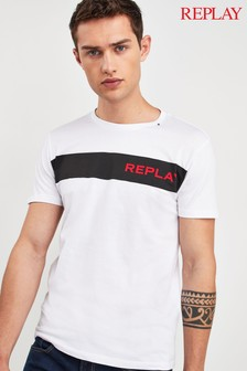 Replay® Chest Block Logo T-Shirt
