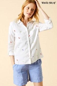 White Stuff White Flyaway Shirt