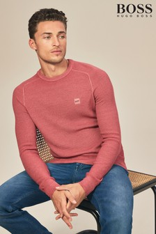 BOSS Akusto Textured Wool Jumper