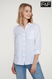 F&F Ivory Linen Shirt