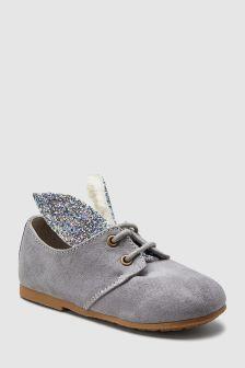 Pantofi cu șireturi tip iepuraș (Fetițe)