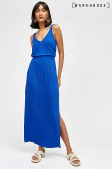 Warehouse Blue Cami Maxi Dress