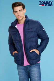 Tommy Jeans Mens Blue Light Down Jacket