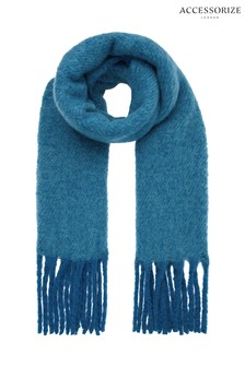 Accessorize Teal Super Fluffy Scarf