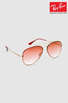 Ray-Ban® Demi Gloss Gold Blaze Aviator Sunglasses