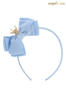 Angel's Face Blue Aliceband With Crown