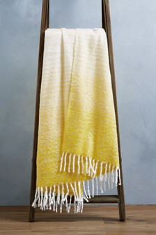 Yellow Ombre Throw