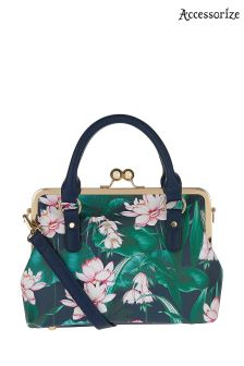 Accessorize Navy Celeste Printed Frame Bag