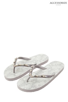 8359c6322df2 Accessorize Metallic Fan Print Flip Flop