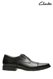 Clarks Black Tilden Cap Shoes