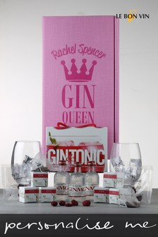 Personalised Gin Queen Or King Fruity Gin Infusions Gift Box by Le Bon Vin