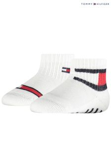Tommy Hilfiger White Flag Baby Socks 2 Pack