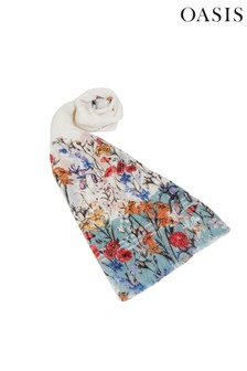 Oasis Schal mit Blumenmotiv, Natur