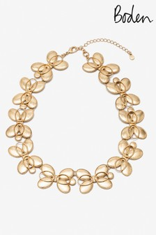 Boden Gold Tone Oval Necklace