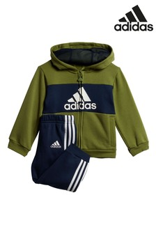 adidas Infant Olive/Black Hoody And Joggers Set