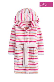 Joules Cream Multi Stripe Novelty Dressing Gown