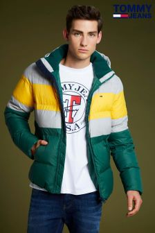 Tommy Jeans Green Rugby Bomber