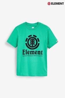 Element Kids Green Vertical Logo T-Shirt
