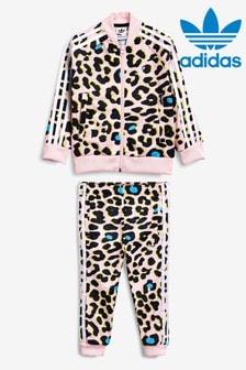 Детский спортивный костюм с анималистическим принтом adidas Originals