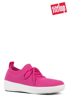 FitFlop™ Pink Uberknit™ Lace-Up Trainer