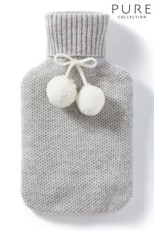 Pure Collection Grey Toccato Hot Water Bottle & Cover