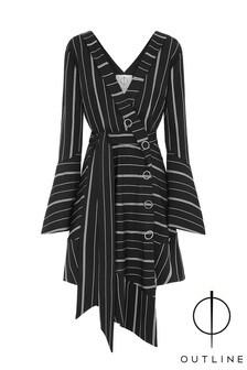 Outline Black Austen Stripe Dress