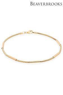 Beaverbrooks 9ct Bar Bracelet